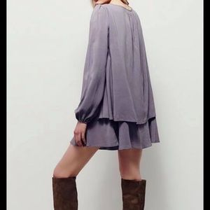 New with tags free people gray tunic dress layered